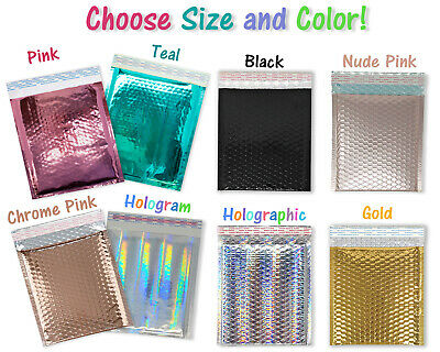 6x10, 8.5x12 METALLIC BUBBLE MAILERS, Glamour Padded Quality Shipping Envelopes