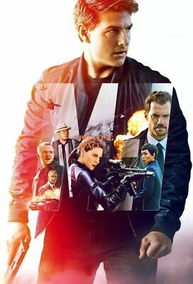 MISSION IMPOSSIBLE FALLOUT Vintage Classic Collectors Movie Poster 24x36 inch 3