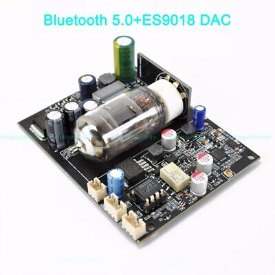 12AU7 ECC82 Tube Preamplifier Bluetooth 5.0 APTX-HD Lossless Player ES9018 DAC