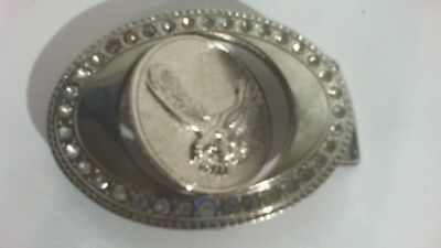 Pre Owned Belt Buckle (Center Spins To Show Money Sign Or Eagle )