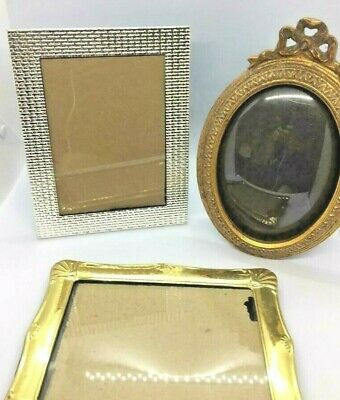 Lot Of 3 Nice Decorative  Picture Frames-Mixed Sizes & Shapes. Nice Easel Frames