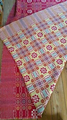Large DERW Mill 1940's / 1950's Vintage  Welsh Wool Double Tapestry Blanket