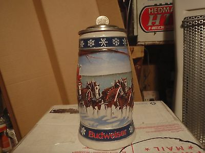 1995 Holiday Lidded Signature Edition  Budweiser  Beer Steins