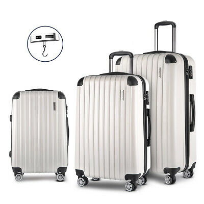Wanderlite 3pc Luggage Suitcase Trolley Set Free Scale TSA Travel Hard Case
