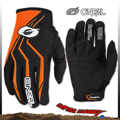 Guanto Glove Cross Enduro Quad O'neal Oneal Element Nero Arancio Taglia Xl