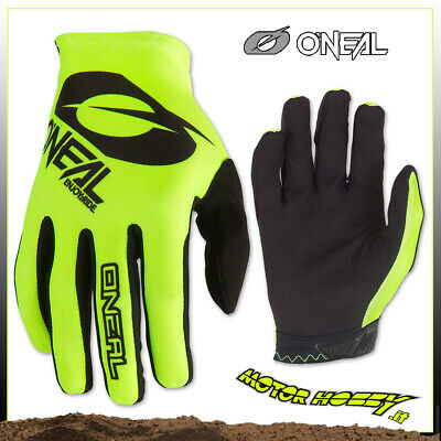 Guanto Glove Cross Enduro Quad O'neal Oneal Matrix Icon Nero Giallo Fluo Tg. M