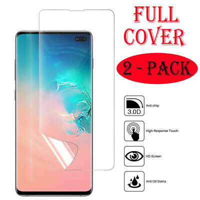 2 Pack FULL COVER Screen Protector Film For Samsung Galaxy S10 E 9 Plus Note 10