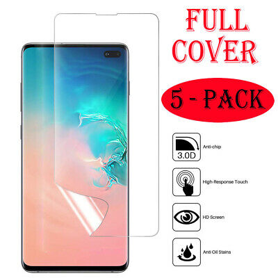 Pack of 5 HD Screen Protector Film For Samsung Galaxy S8 S9 S10 Plus 10e Note 10
