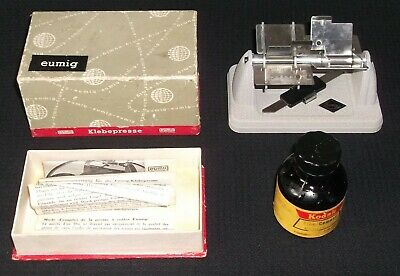 Vintage Eumig Splicer, Boxed with Instructions + Glue, circa 1961