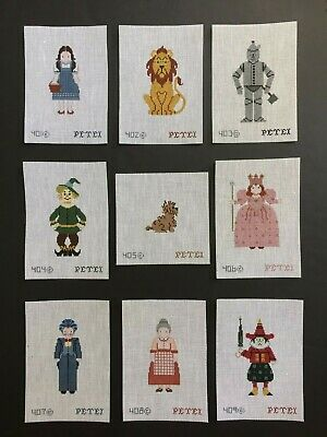 Petei Hand-painted Needlepoint Canvas Wizard of Oz Characters/Select 9 Designs