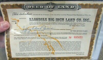 Vintage1954 Sgt Preston of The Yukon Quaker Oats Deed of Land(13837-card-ms)