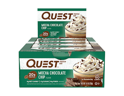 Quest Nutrition Protein Bar | 2.5 OZ | Mocha Chocolate Chip!