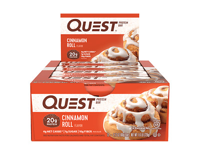 Quest Nutrition Protein Bar | 2.5 OZ | Cinnamon Roll!