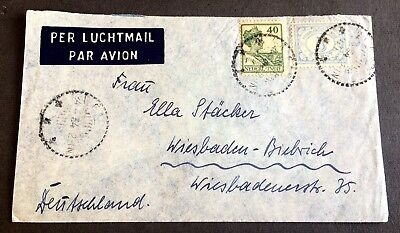 old used envelope 1934 with 2 stamps - Dutch India
