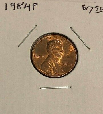 UNITED STATES, Lincoln Memorial Penny, 1984 P, RED BU, FREE SHIP