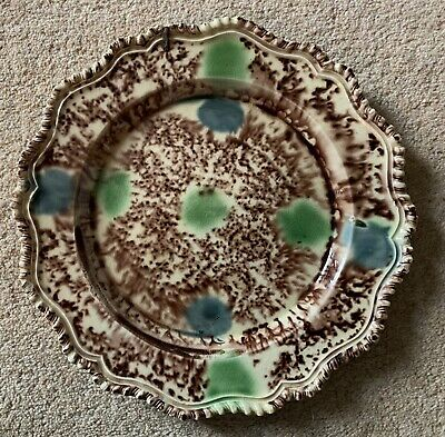 RARE 18th CENTURY WHIELDON STAFFORDSHIRE PLATE  c.1770 - SUPERB