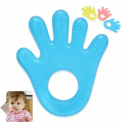 Silicone Safety Infant Mouth Care Baby Teether Hand Shaped Grinding Teething