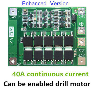 3S 35-40A 18650 Akku Batterie Charger Li-ion Lithium Protection PCB BMS Board