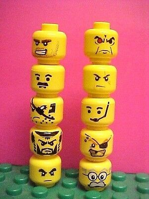Assorted Lego Lot of 10 NEW Female Minifig Heads From Selection Shown