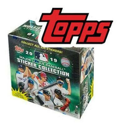 2019 Topps MLB Sticker Cards Collection Baseball Box 200+ stickers!!