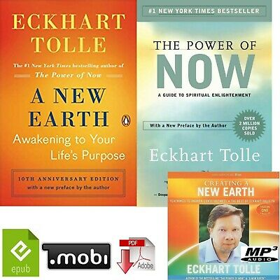 The Power of Now + A New Earth, Eckhart Tolle ePub mobi pdf Mp3 Audio book on CD