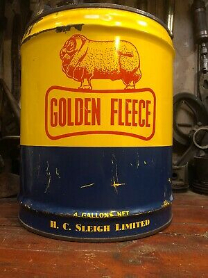 Golden Fleece Ram On Bone 4 Gal Oil Can