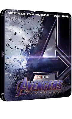 Avengers Endgame (4K/2D Blu-ray discs, 2019) Pre-order Zavvi Steelbook SOLD OUT!