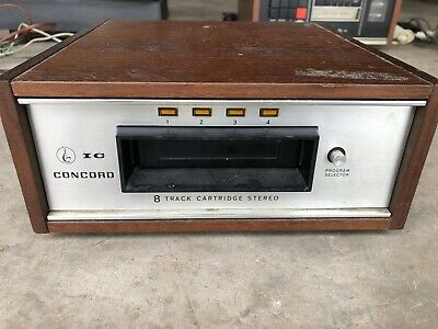 Vintage Concord 8 Track Cartridge Player Model CP-250A Japan