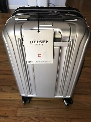 "NWT Delsey Helium Titanium 19"" International Carry-On Expandable Spinner Luggage"