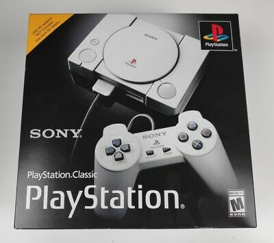 Sony PlayStation Classic PS1 Video Game Virtual Console With 20 Games Gray