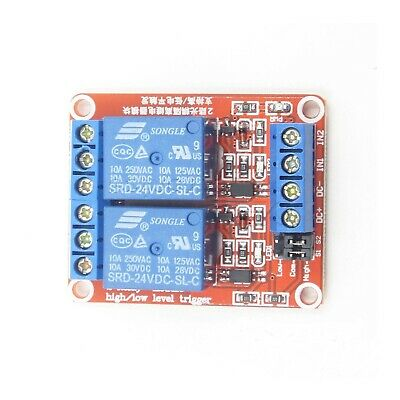 Usa! 2 Pcs 24 Vdc @10 Amp 2-Channel High / Low Level Input Relay Boards