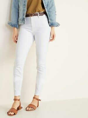 6bd325b35bfed8 Old Navy High-Rise Secret-Slim Pockets White Rockstar Jeans NWT ~ Size 8