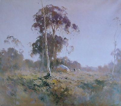 Penleigh Boyd, Summer Morning, Superb Large Australian Landscape.