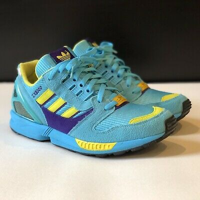 promo code af8f9 264ef ADIDAS ZX 8000 Blue Boost Gray Men's Running Shoes Size 11 ...
