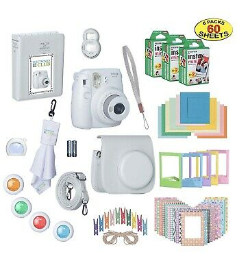 Fujifilm Instax Mini 9 Instant Film Camera Bundle with Over 15 Accessories NEW!!