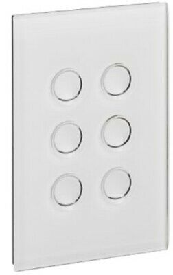 Clipsal GRID PLATE & COVER 6-Gangs Touch PURE WHITE *Australian Brand