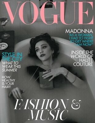 Madonna Vogue UK Magazine June 2019-MADONNA COVERS BRITISH VOGUE MAGAZINE