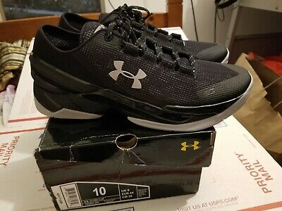 81fa59ca039 New Under Armour UA Curry 2 Low Basketball Shoes SZ 10 1264001-003 Charged  Black