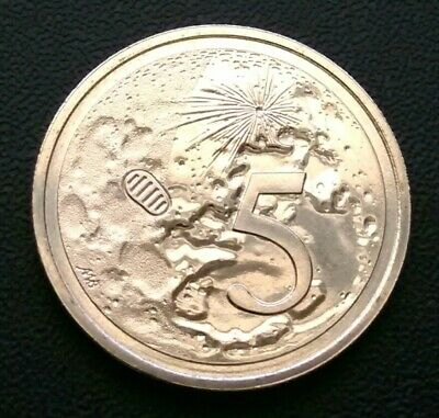 2019 5 Cent Coin 50th Anniversary of Moon Landing. Choice+ Coin.