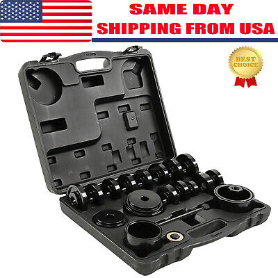FWD Front Wheel Drive Bearing Press Tool Puller Pulley Removal Adapter Kit 23pcs