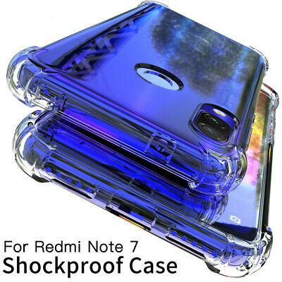 For Xiaomi Redmi Note 7 Case Cover Protect Silicone Shockproof Transparent Clear