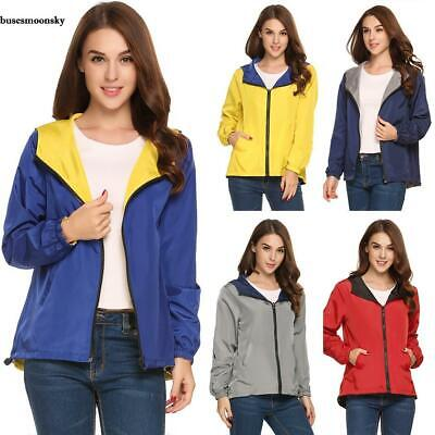 New Women Casual Hooded Long Sleeve Solid Two Sides Wear Coat Jacket BMKY
