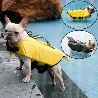 Dog Life Jacket Swimming Float Vest Reflective Adjustable Buoyancy Aid Pet S~XL