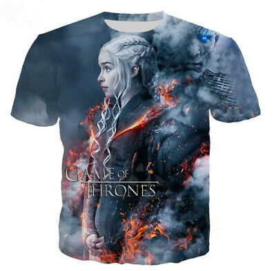 New Fashion Men/Women's TV Game of Thrones 3D Print Casual T-Shirt Short Sleeve