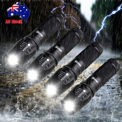 3x 20000LM XML T6 LED Rechargeable Flashlight Hunting Light Zoom Torch 18650 Kit
