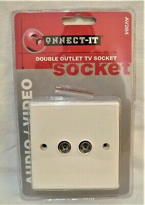 Double outlet tv socket, audio / video