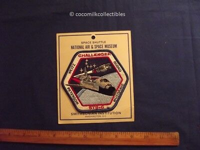 Vintage 1980's Patch Space Shuttle Challenger STS 6 NASA Mission Smithsonian Ins