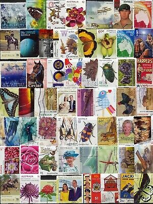 Australian Stamps $1.00 to 60c (2 pages) 110 Different Used/Bulk