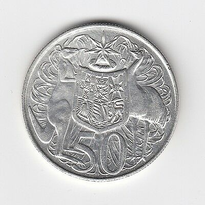 1966 Australia Round Fifty 50 Cent Coin (80% Silver) - Great Coin