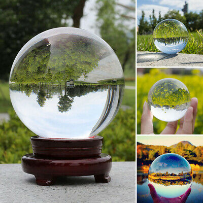 Clear Glass Crystal Ball Healing Sphere Photography Props Lensballs (50-100mm)